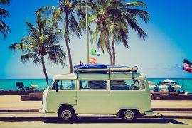 Urlaubsfahrt mit dem Firmenwagen.