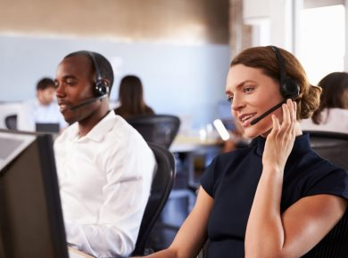 Customer service employee using business vehicle tracking
