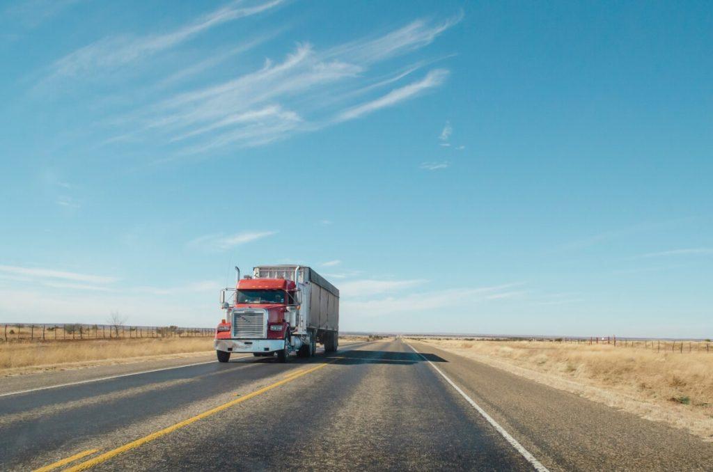 truck traveling, green fleet, environment