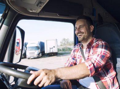 truck driver, driving pool car