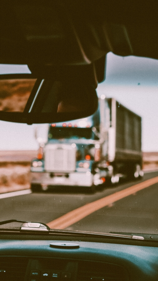 trucks on the road, truck mileage tracking
