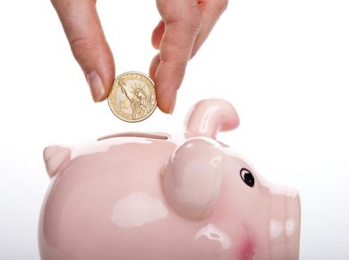 piggy bank, saving money and vehicle tracking costs