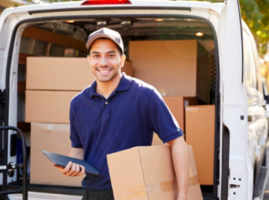 Employee using van tracking systems