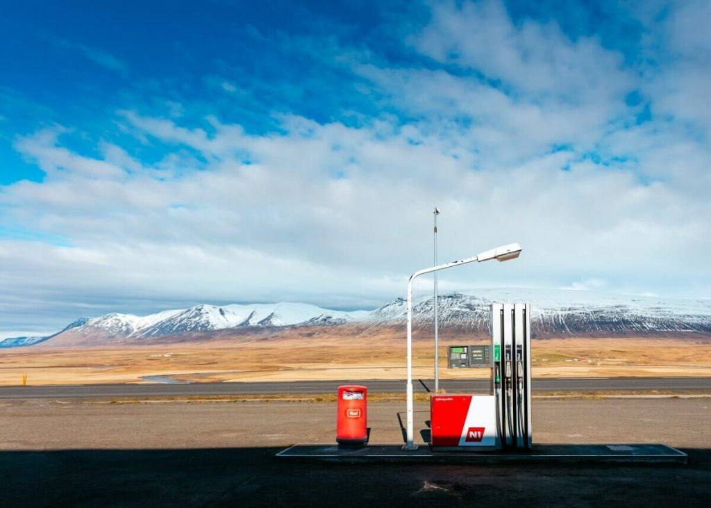 petrol station has rising fuel prices