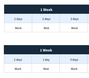 Donwloadable guide to resting hours