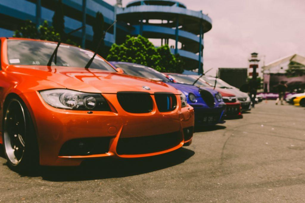 Row of company cars