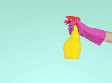 bottle of cleaner for fleet hygeine in the workplace