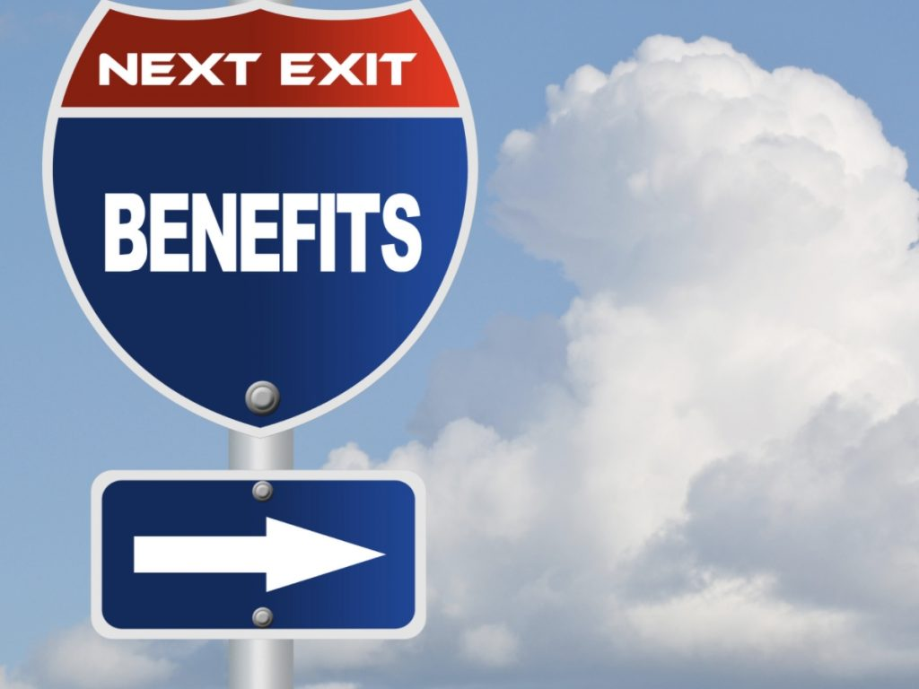 Sign of benefits