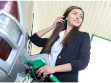 fuel management putting petrol into company car