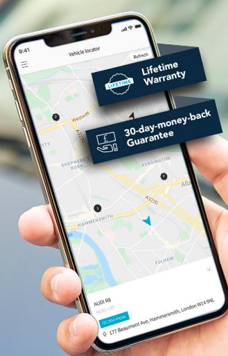 Mobile app of Vimcar's UK Fleet Management Solutions