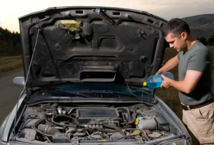 A car being fixed