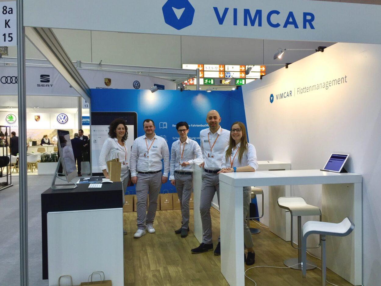 Das Vimcar Teasm auf der Messe Flotte! Der Branchentreff.