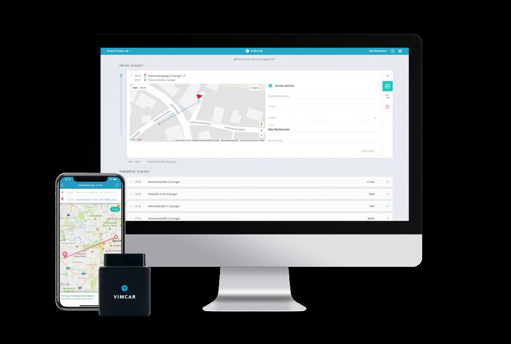 Fahrtenbuch App für Smartphone und Desktop