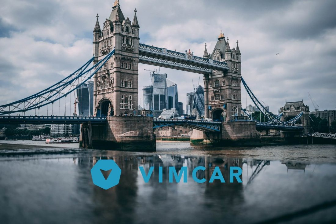 Vimcar Logo vor Tower Bridge