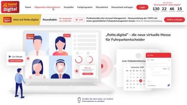 Bildschirmaufnahme der flotte.digital Webseite